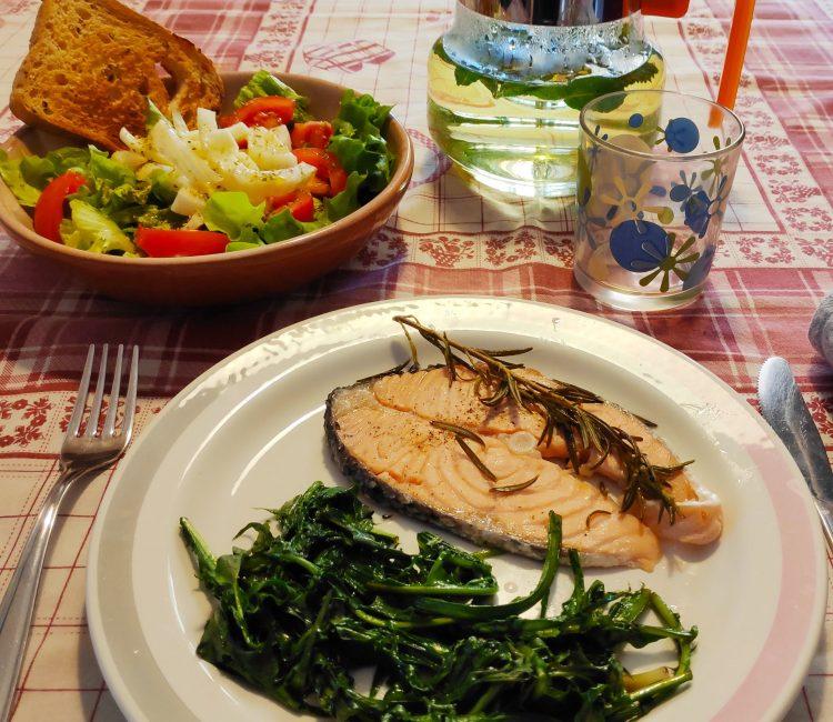 salmone e biete
